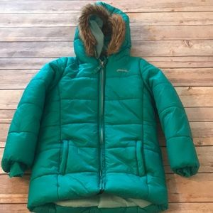 Eddie Bauer girls 4t puffer jacket green coat